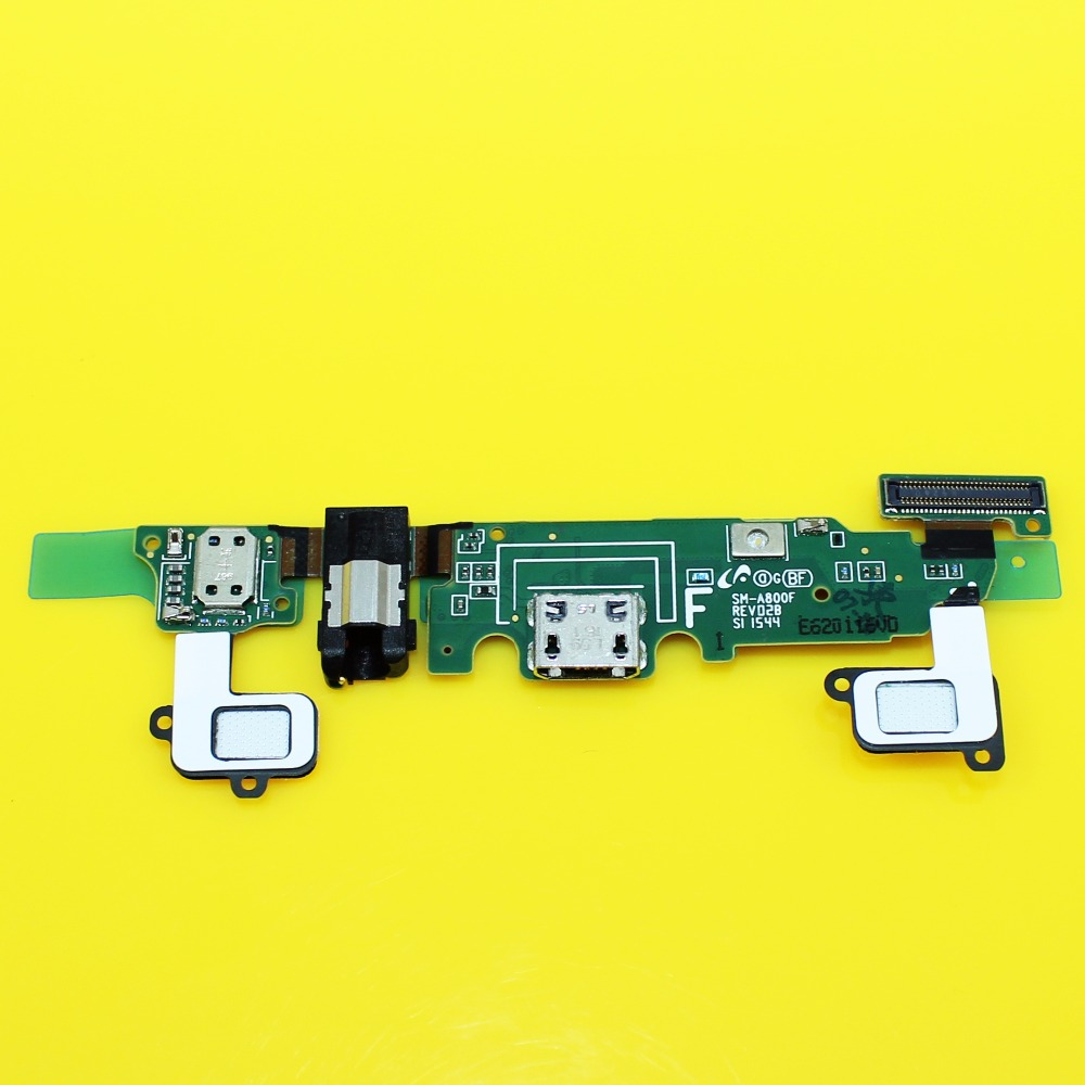 Jing Cheng Da 1pcs Sensor Keypad Home Replacement Charger Charging Dock Port + Audio Jack Flex Cable For samsung galaxy A8 A8000
