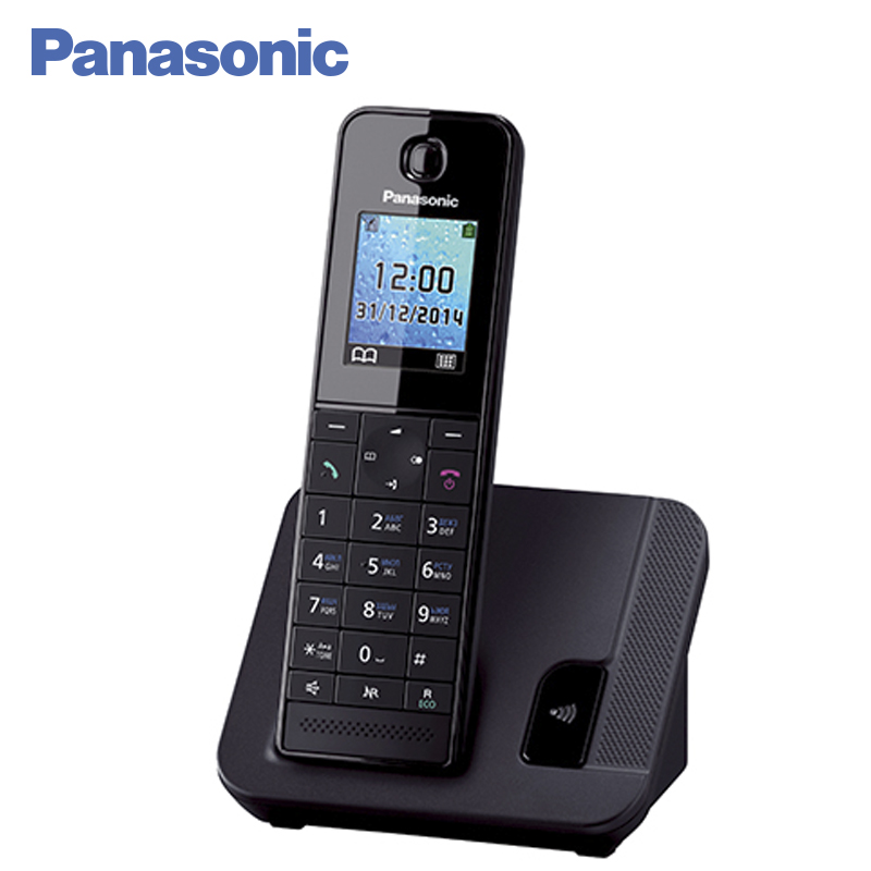 Panasonic KX-TGH210RUB DECT phone, digital cordless telephone, wireless phone System Home Telephone. panasonic kx tg2512ru1 dect phone 2 handset digital cordless telephone wireless phone system home telephone