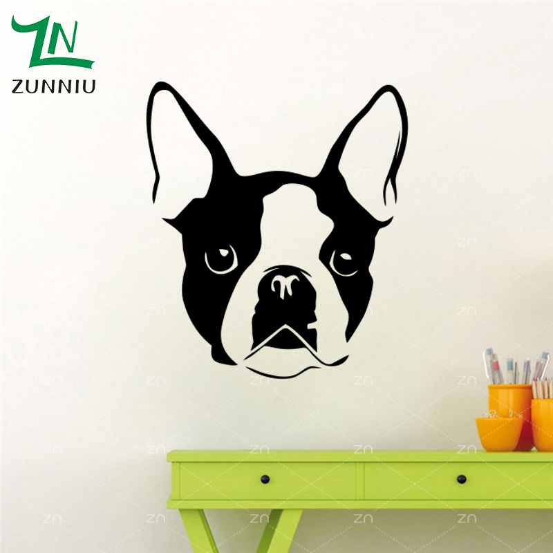 E663 Wall Stickers Home decor DIY poster mural Vinyl Decal Art Mural Nursery Wallpaper Animal Bulldog Pets Pet French