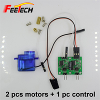 2 Pcs Feetech FM90 Gear Motor 1 Pc Control Board Micro RC Motor Gear Box For
