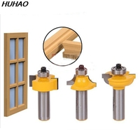 3pcs Set Door Plank Wood Working Tools Curboard Cutter Router Bits 1 2 Shank T Type