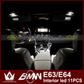 Night Lord 11pcs/lot Error Free Interior Lights Footwell Glovebox Vanity Mirrors Trunk Dome Puddle light For  B-M-W  E63 E64