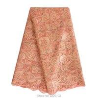 Сетка вышивка последней африканской кружевной ткани 2017 ASO ebi распродажа Кружевная ткань моды французского кружева для торжественные платья