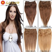 70g80g100g120g Thick Virgin Remy Clip In Real Human Hair Extension Black,Brown,Blonde 7A Brazilian Clip In Hair Sliky Straight