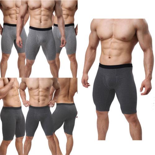 Teal Black White Tree Moon Sky Boxer Briefs Trunks Underwear Seamless Short Leg Underpants