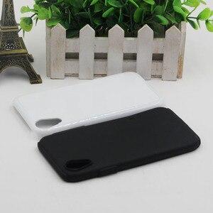 Image 2 - MANNIYA Blank sublimacyjny twardy podwójny 2 w 1 TPU + etui na telefon PC dla iphone XR z wkładkami aluminiowymi darmowa dostawa! 50 sztuk/partia