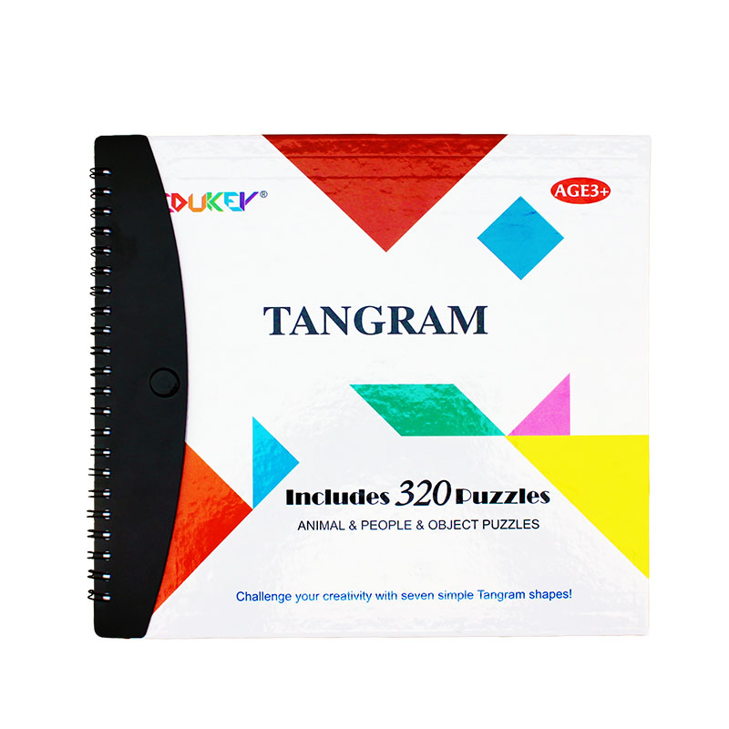 Kids Toys 320 Magnetic Tangram Toy Kids Educational Toys Baby Clip-on Book Puzzle Toys f ...