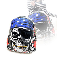New Style Personalized Backpack Bags School Cartoon Skeleton Package Street Punk Bag Pirate Skull Laptop Backpacks