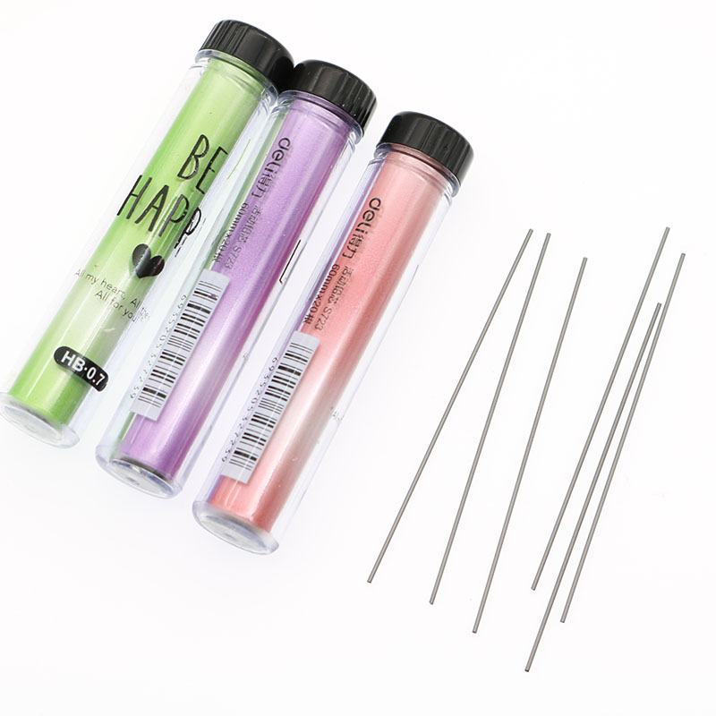 (2 Pieces = 40pcs) / Box Hb Pencil Lead 60mm Black 0.7mm / 0.5mm Mechanical Pencil