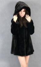 2015 winter woman fashion real mink fur xl long real mink coat 8043
