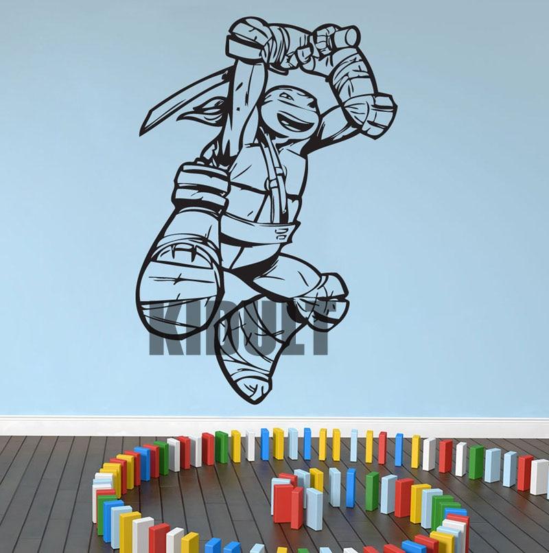 <font><b>Teenage</b></font> <font><b>Mutant</b></font> <font><b>Ninja</b></font> <font><b>Turtles</b></font> <font><b>Leonardo</b></font> Cartoon Wall Sticker Wall Decals Vinyl Wall Art Home Study Bedroom Flat Renovated Videos