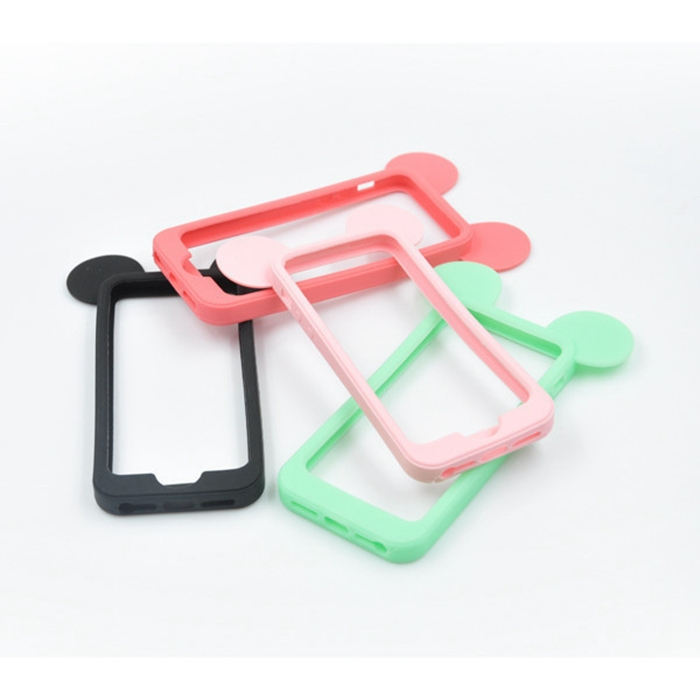 4eb17209053 2015 New Cute Black Mickey mouse ears Silicone Frame Bumper For Apple  iPhone4 4S 4G/5G 5 5S Soft Cartoon Phone Cases Cover SJ187 on  Aliexpress.com   Alibaba ...