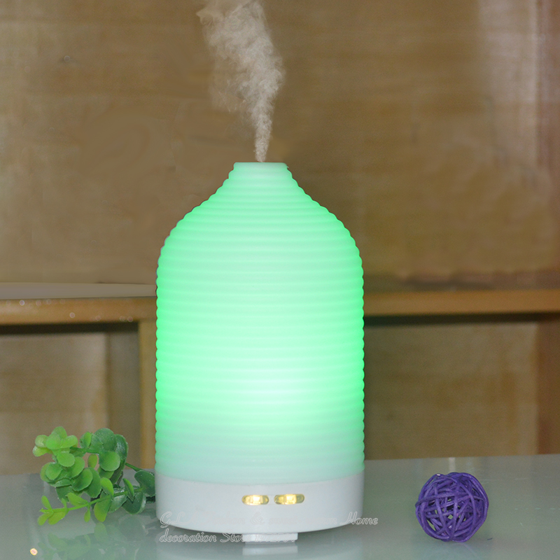 Humidifier Aroma diffuser Essential oil diffuser   Aroma  fragrance oils  Capacity 100ML   Aroma led  lamp   Cucurbit shape fragrance machine scent 12v 100ml timer function panel silent 200m3 coverage area aroma diffuser essential oil machine