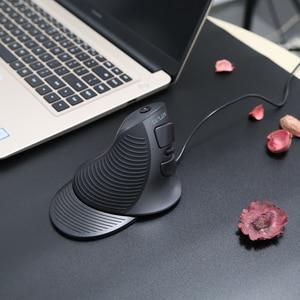 Image 5 - Delux M618BU эргономичная офисная Вертикальная мышь, 6 кнопок, 600/1000/1600 dpi, мыши с правой рукой, коврик для запястья, для ПК, ноутбука, компьютера