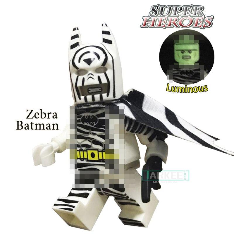 Здание Конструкторы головы ночник Зебра Бэтмен супер героев пользовательские Темный рыцарь Детские классические модели для детей Игрушеч...