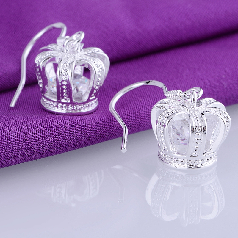 925 Pernos de bola de plata esterlina pendientes 6mm Perla Polvo Rosa Azul Púrpura