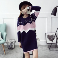 The New 2016 New Tide In Autumn And Winter Color Dress Woman Women S Sweater In