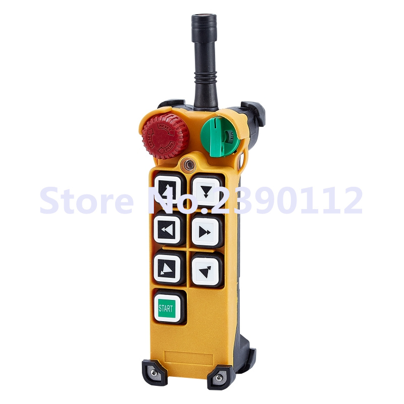 industrial wireless transmitter redio remote control transmitter F24-6D for hoist crane CE FCC