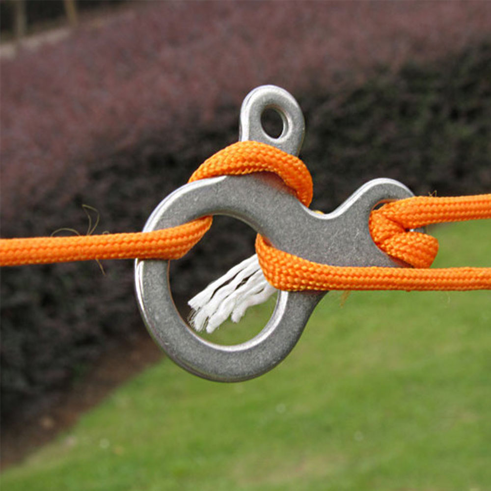 Knot Rope Tool 3 Hole Stainless Steel Hook Carabiner Keychain Camping Hiking US