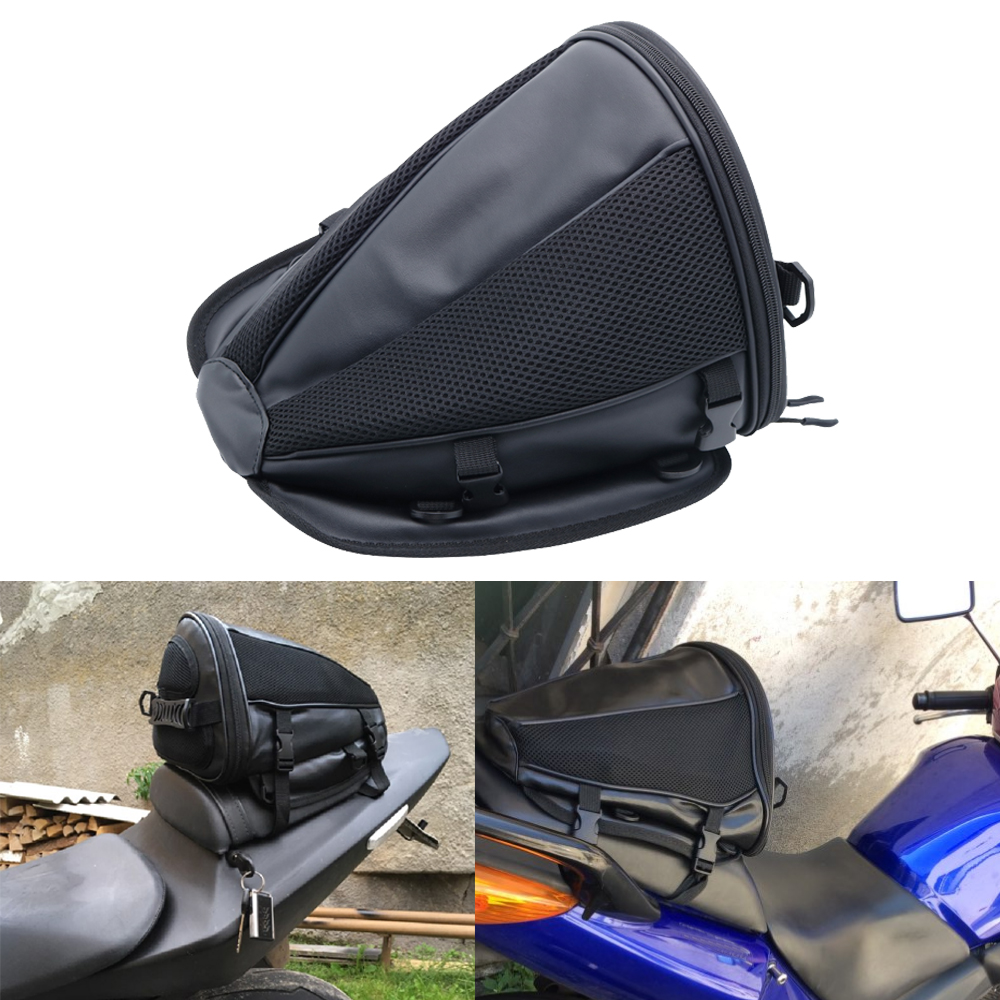 Back Seat Rear Storage Motorcycle Bag Motorcycle Accessories Package Saddle Bag