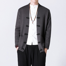 Autumn New Men Chinese Style Cardigan Sweater coat Male Fashion Casual Knitted Sweater Jacket