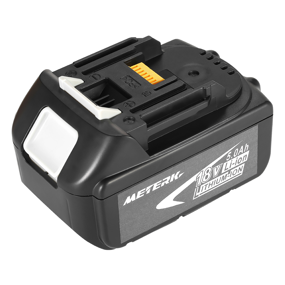 Meterk BL1850 18V 4.0Ah /5.0Ah large capacity Power Tools Battery Recharcheable Lithium replacement Battery Pack for MAKITA