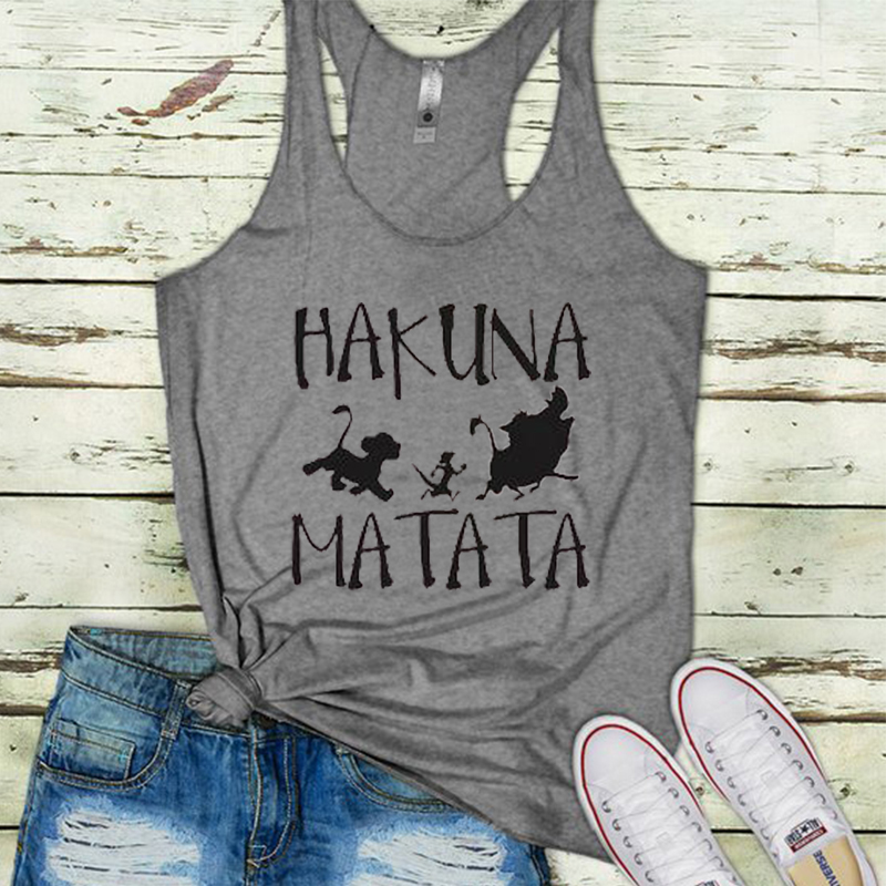 2019 hakuna matata   tank     top   womens aloha gothic plus size   tanks   white girl sexy clothes beach love festival   tops