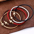 5 Color Leather Rope for Pandora Bracelets Clasp Clip Beads Handmade Girl Gift Fashion Bracelets B5154