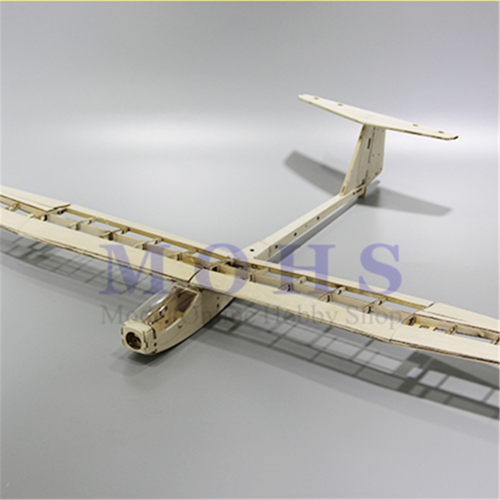 Image 5 - RC aircraft glider guppy wood airplane kits canopy hinges COMBO RC scale airplane glider guppy balsa fixed wing  kits COMBOParts & Accessories   -