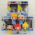 FUNKO POP Cinderella Snow White Ariel Tinker Bell  PVC Action Figures Dolls Children Christmas Gift 10cm