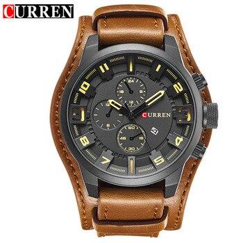 Curren Top Brand Luxury Men Watches Man Clock Male Retro Leather Army Military Sport Quartz-Watch Men Hodinky Relojes Hombre дамски часовници розово злато