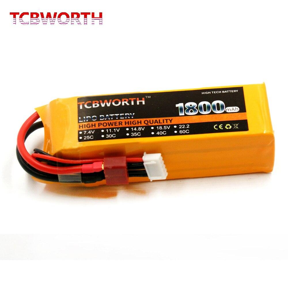 TCBWORTH 4S 14.8 v 1800 mah 40C Max 80C RC LiPo batterie Pour RC Avion Drone Quadrirotor Voiture Taux Élevé cellulaire RC Li-ion batterie