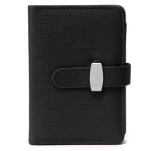 Fashion Modern Business Design A7 Personal Organiser Planner PU Leather Cover Diary Notebook School Office Stationery (Black)