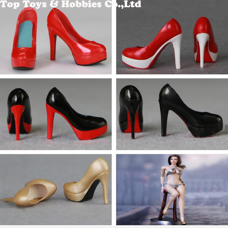 Dutiful 5 Colors 1/6 Scale Female Figure Shoes High Heels Empty Inside 1/6 Ladies Girl Pvs Shoes For 12 Woman Body Figures Accessories Famous For High Quality Raw Materials And Great Variety Of Designs And Colors Full Range Of Specifications And Sizes