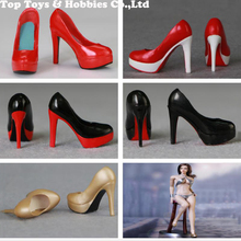 5 COLORS 1/6 Scale Female Figure Shoes  High heels empty inside ladies girl PVS shoes For 12 woman Body Figures Accessories
