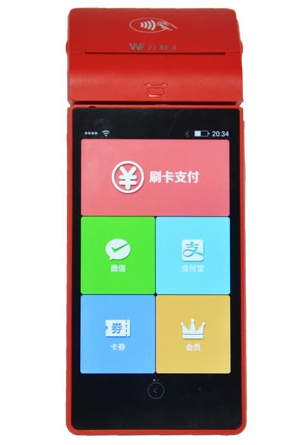 4 5.5 inch nfc pos terminal with android system for hotel member management system