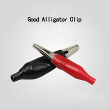 10pcs/lot 45MM Metal Alligator Clip  Crocodile Electrical Clamp for Testing Probe Meter Red and Black with Plastic Boot