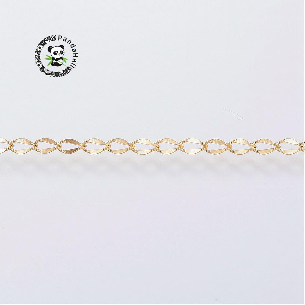 20m/Roll Handmade 304 Stainless Steel Chains Bracelet Necklace Jewelry Making Chains Golden Color 3x2x0.3mm-in Jewelry Findings & Components from Jewelry & Accessories    2