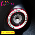 1 Piece Car Stickers Luminous Ignition Key Ring Switch Cover Trim Sticker for Toyota Corolla 2014 2015 2016 Accessories