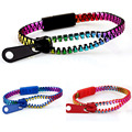2016 New Zip bracelet wristband candy bracelet Popular Zipper bangle bracelet Double Colors fluorescent color style 3pcs