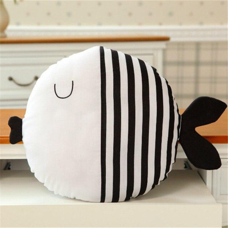 Cute Fish Shape Decorative Sofa/Bed Back Cushion Durable Children Throw Pillow Decorative House 40CM