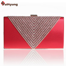 New Good Quality New Women PU Leather Dinner Handbag Luxury Diamond Wedding Bride Bridesmaid Clutch Party Evening Bag