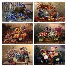DIY 5D Diamond Painting Flowers Blueberries Mosaic Full Diamond Painting Cross Stitch Kits Home Decoration Diamond Embroidery