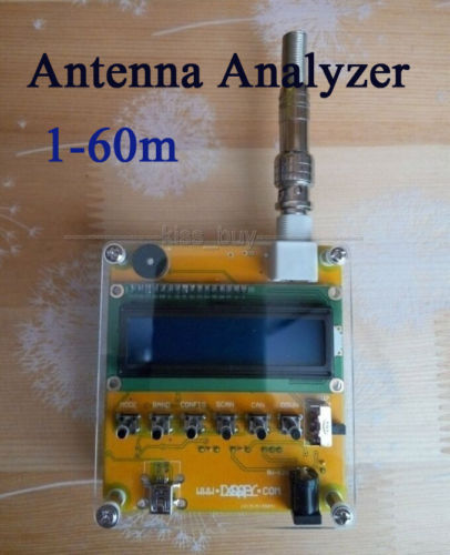 MR100 1-60M Shortwave Antenna Analyzer Meter Tester For Ham Radio 12V Q9 Head