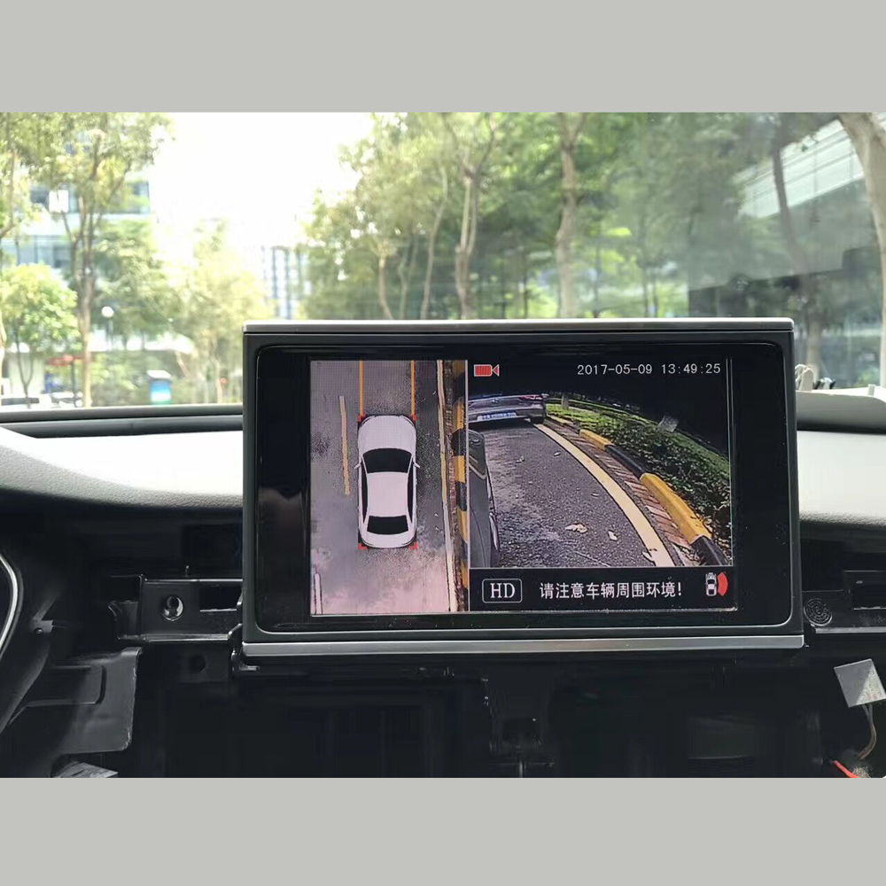 360 view car camera for audi a4 a6 q7 a7 2016 above mib2 host 3g mmi plus around view monitor. Black Bedroom Furniture Sets. Home Design Ideas