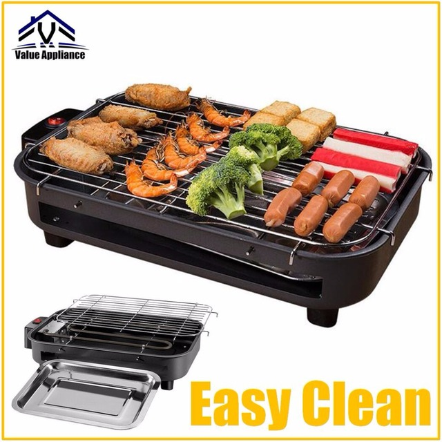 Ful Electric Barbecue Tabletop Grill For Hiking Garden Camping Picnic Bbq Griddles With Oil Collect Plate