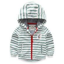 TYX2546 Au Détail 2016 Nouveau Printemps Bébé Garçon Veste À Capuche Rayé Zipper Garçon Manteau Casual Enfants Survêtement Garçons Vêtements