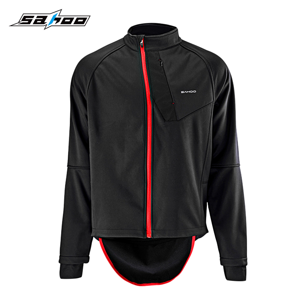 SAHOO Cycling Jacket Windproof Windproof Full Zippered Polyester Fabric Bicycle Clothing Soft Shell Coat MTB Bike sahoo 45516 outdoor cycling sunproof polyester sleeves covers black white pair xxl