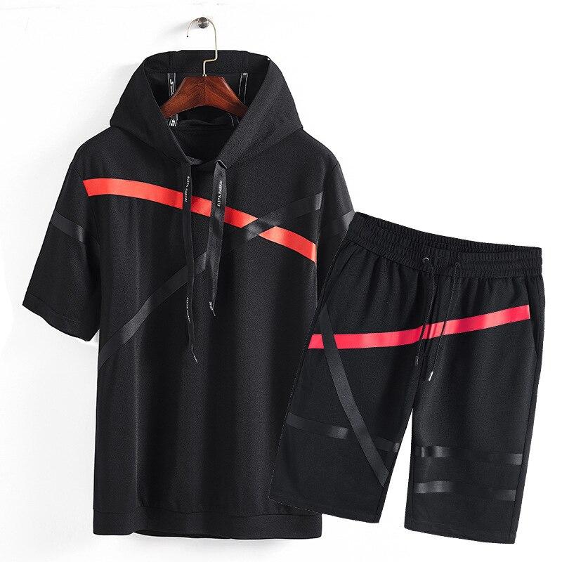 (hoodies + Hosen) Trainingsanzug Herren Sportswear 2019 Sommer Design Kurzen Ärmeln Track Anzüge 93% Polyester Um Jeden Preis