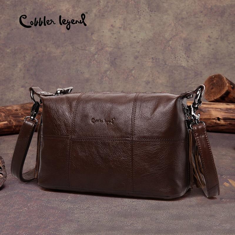 a1467f4012d9c Cobbler Legend Hobo Frauen Tasche Weibliche Damen Echtes Leder Quaste  Handtasche Schulter Umhängetaschen Kleine Trage Tasche Geldbörse